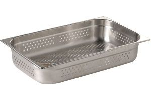 Stainless Steel 1/1 Full Size Perforated Gastronorm Pan 65mm deep
