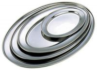 Stainless Steel Oval Flat 20 x 13