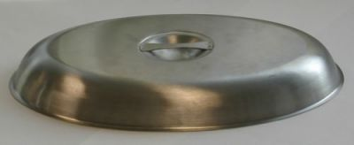 Stainless Steel Cover for Oval Vegetable Dish 10
