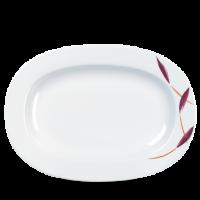 Churchill Alchemy Batik Rimmed Oval Dish 13