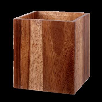 Churchill Alchemy Buffet Large Wood Buffet Cube  7 1/4