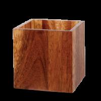 Churchill Alchemy Buffet Medium Wood Buffet Cube 5 7/8