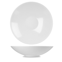 Churchill Alchemy White Melamine Balance Buffet Bowl  14 3/4