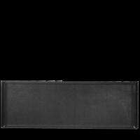 Churchill Alchemy Buffet Rectangular Black Melamine Tray 22 3/4