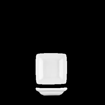Churchill Art de Cuisine Menu White Miniatures Mini Square Plate 2 3/4