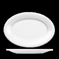 Churchill Art de Cuisine Menu Oval Plate 10 1/2