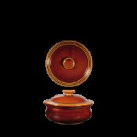 Churchill Art de Cuisine Rustics Brown Simmer Lidded Stew Pot  5 7/8