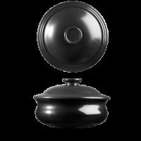 Churchill Art de Cuisine Rustics Simmer Black Lidded Stew Pot 5 1/2