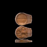 Churchill Art de Cuisine Small Single Handled Wooden Tray  7