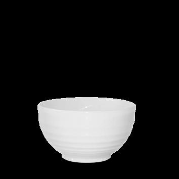 Churchill Bit on the Side White Ripple Bowl 13cm dia x 7.4cm height   56cl  (19.7oz)