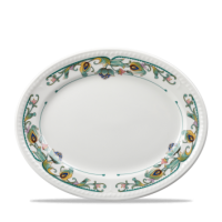 Churchill Buckingham Sumatra Oval Plate/Platter  12