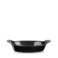 Churchill Cookware Black Large Round Eared Dish 7