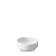 Churchill Plain Whiteware Ashtray 3 Notches  4