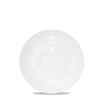 Churchill Latte Ripple White Saucer 6 1/2