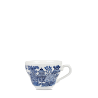 Churchill Vintage Prints Blue Willow Georgian Tea Cup  7oz  19.8cl  Height 7cm  Diameter 9cm