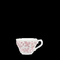 Churchill Vintage Prints Cranberry Bramble Georgian Tea Cup  7oz  19.8cl  Height 7cm  Diameter 9cm
