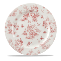 Churchill Vintage Prints Cranberry Toile Plate 12