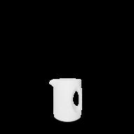 Churchill Plain Whiteware Jug 3oz (8.5cl)    8 x 7 x 6cm   ( 3 1/8