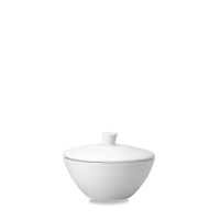 Churchill Plain Whiteware Open Sugar Bowl Lid    Lid Only - NO Bowl (please see seperate listing)