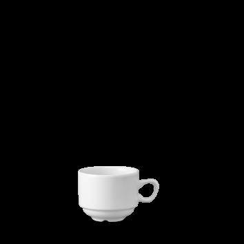 Churchill Plain Whiteware Nova Continental Coffee Cup 6.3oz (18cl)