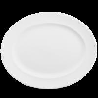 Churchill Plain Whiteware Oval Rimmed Dish  17