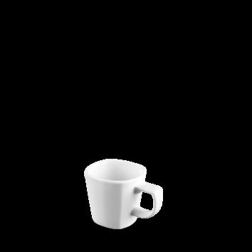 Churchill Plain Whiteware Square Mug 4oz (11.4cl)    6.8cm x 6.5cm   2 5/8