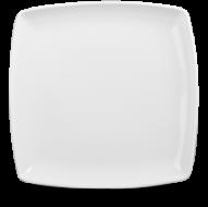 Churchill X Squared Plain Whiteware Square Deep Plate  10 1/2