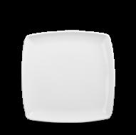 Churchill X Squared Plain Whiteware Square Deep Plate  8 3/8