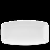 Churchill X Squared Plain Whiteware Oblong Plate 13 3/4