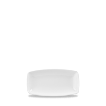 Churchill X Squared Plain Whiteware Oblong Plate 7 3/4
