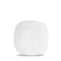 Churchill Plain Whiteware Square Saucer for Cafe Latte Mug WHMCL & WHUMCL 16cm x 16cm ( 6 3/8