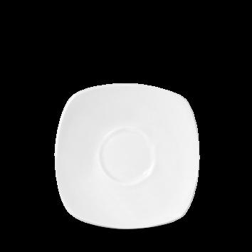 Churchill Plain Whiteware Square Saucer for Cafe Latte Mug WHMCL & WHUMCL 16cm x 16cm ( 6 3/8
