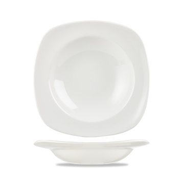 Churchill X Squared Plain Whiteware Square Soup Plate 9 3/4
