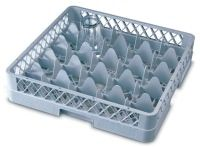 Genware 25 Compartment Glass Rack 500mm x 500mm with 2 Extenders