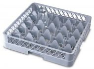 Genware 25 Compartment Glass Rack 500mm x 500mm