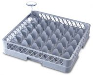 Genware 36 Compartment Glass Rack 500mm x 500mm