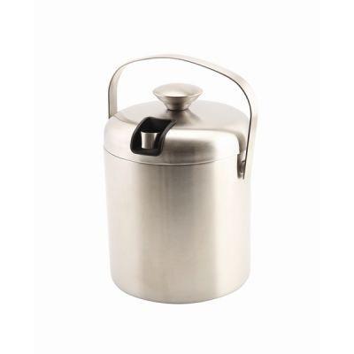 Stainless Steel Insulated Ice Bucket with Ice Tongs  1.2 litre capacity