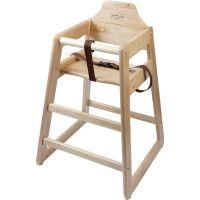 Wooden High Chair - Light Wood  (Birch)