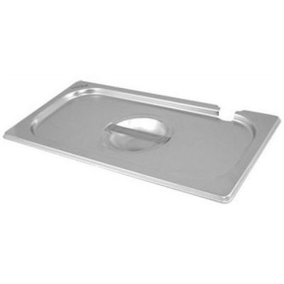 Stainless Steel Gastronorm Notched Lid 1/4  265 x 163mm