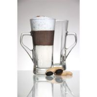 Geo Tall Coffee Glass 33.5cl 12oz