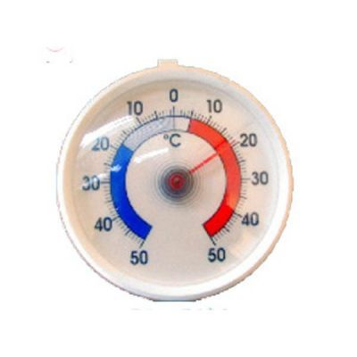 Dial Thermometer For Freezer  Dial 50mm Diameter Range -50 + 50 Deg C