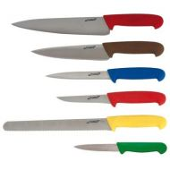 6 Piece Colour Coded Knife Set + Canvas Knife Wallet