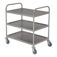 Fully Welded Stainless Steel Trolley 3 shelves