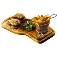 Olive Wood Serving Board with groove  40cm long x 21cm wide
