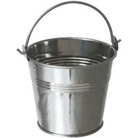 Stainless Steel Serving Buckets  10cm diameter x 9cm high   50cl