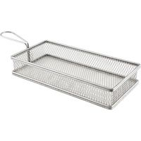 Stainless Steel Fry Basket  26cm x 13cm x 4.5cm high   Rectangular  (excluding handle)
