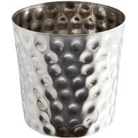Stainless Steel Hammered Serving Cup   40cl   8.8cm diameter x 9cm high