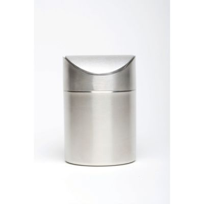 Stainless Steel Table Bin 16.5cm high x 11.5cm dia