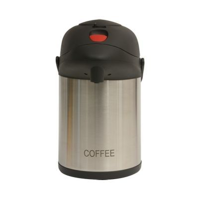 Coffee Inscribed Stainless Steel Vacuum Pump Pot 2.5L
