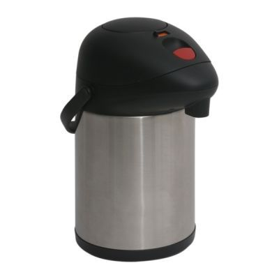 Genware Stainless Steel Unbreakable Vacuum Pump Pot 3L